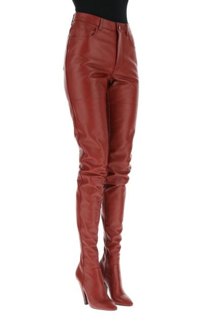 Tiziano red nappa leather pantaboots