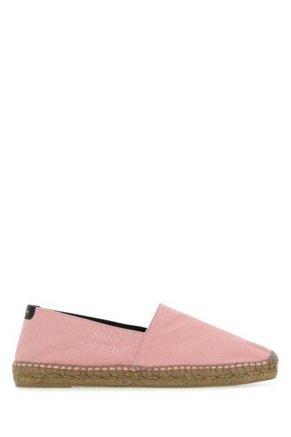 Pink canvas espadrilles