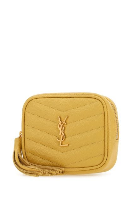 Yellow leather baby Lou belt bag