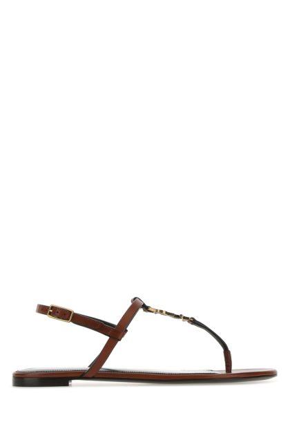 Brown leather Cassandra sandals