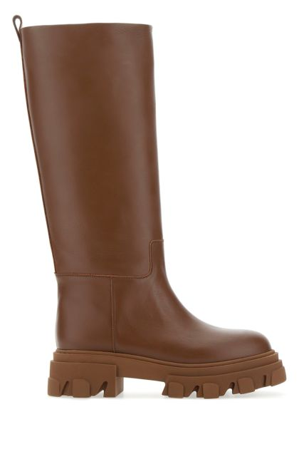 Brown leather Perni 07 boots