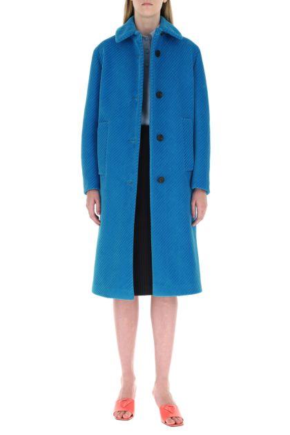 Turquoise velvet coat