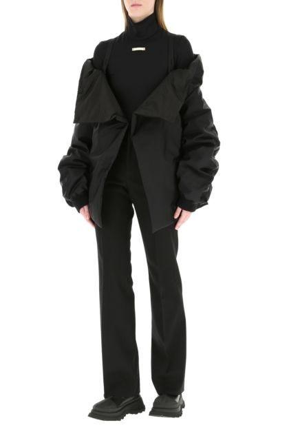 Black Re-nylon padded jacket