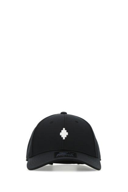 Black polyester baseball cap