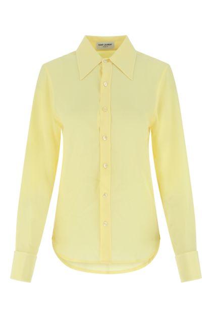 Pastel yellow silk shirt