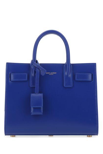 Electric blue leather nano Sac De Jour handbag