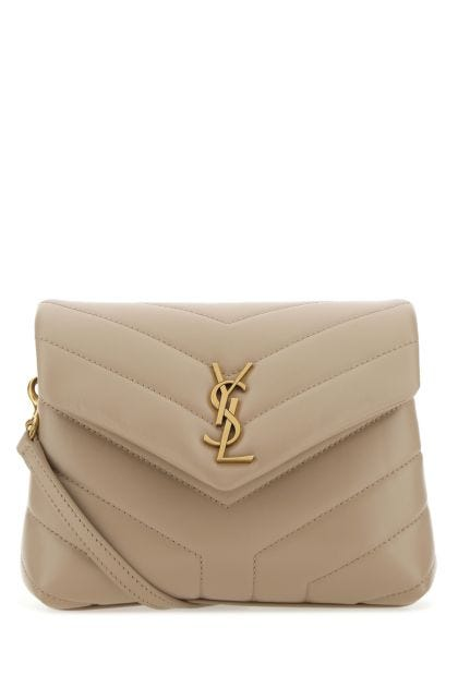 Cappuccino leather toy Loulou crossbody bag