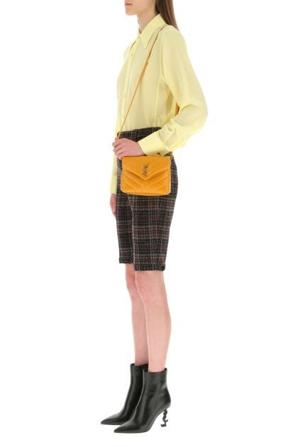 Ochre leather toy Loulou crossbody bag
