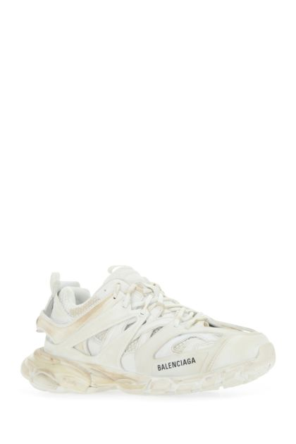 White mesh and fabric Track Worn Out sneakers