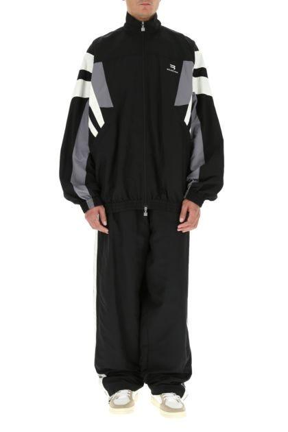 Multicolor nylon oversize jacket