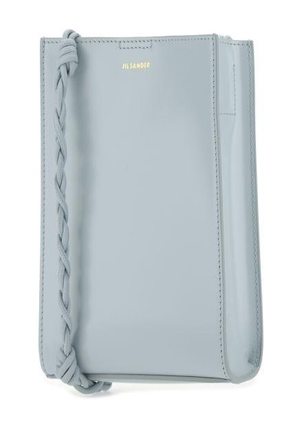 Pastel light blue leather small Tangle shoulder bag