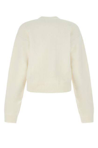 Ivory wool blend cardigan
