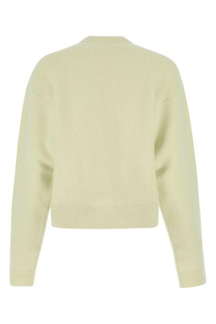 Pastel green wool blend cardigan