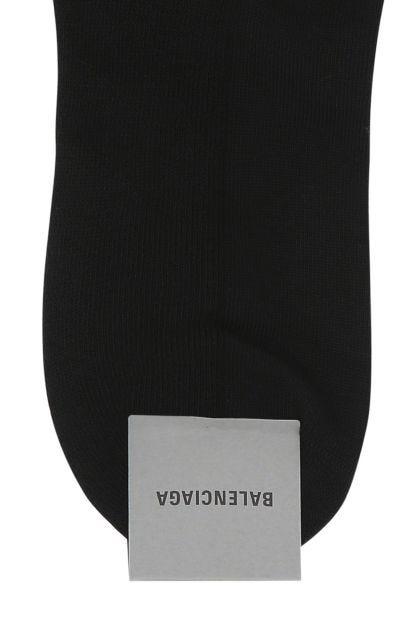 Black cotton stretch blend socks
