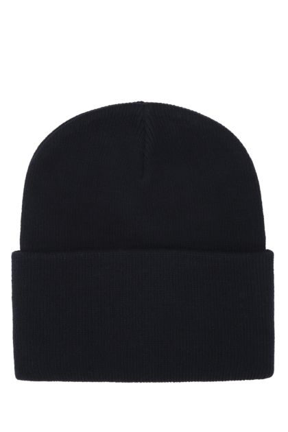 Midnight blue acrylic beanie hat