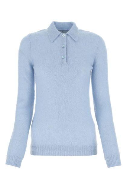 Powder blue mohair blend sweater