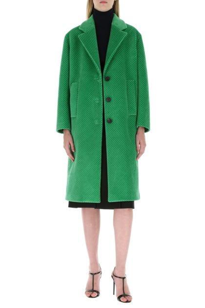 Green velvet coat
