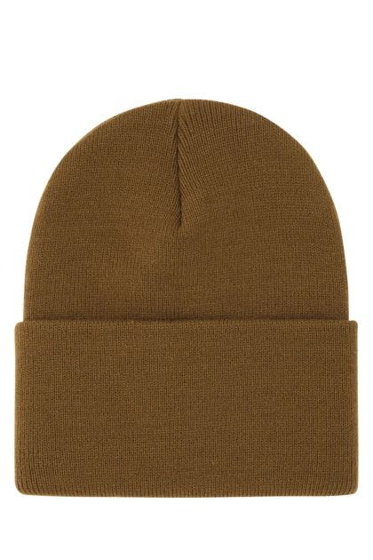 Biscuit acrylic beanie hat