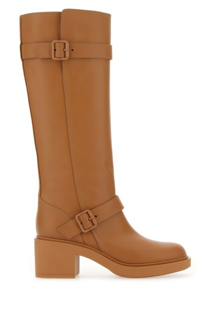 Camel leather Ryder boots