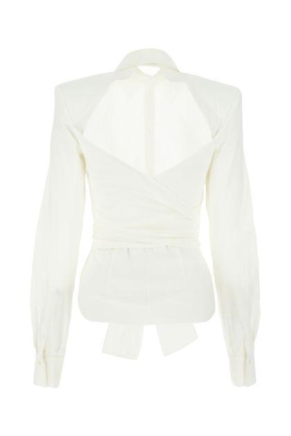 White cotton blend shirt