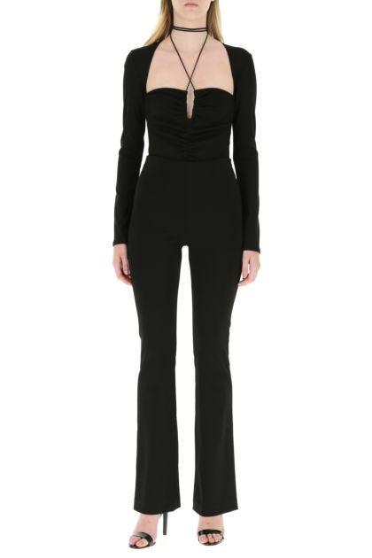 Black stretch viscose body suit