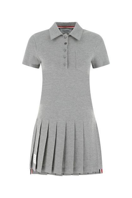 Grey piquet polo dress