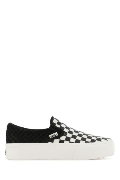 Two-tone leather Classic Platform slip ons