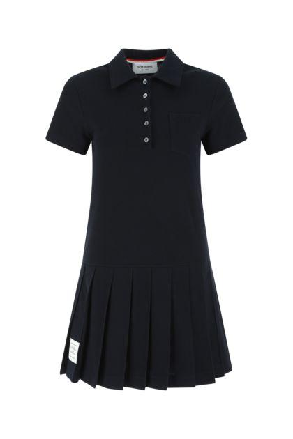 Midnight blue piquet polo dress