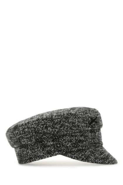 Multicolor wool blend baker boy hat