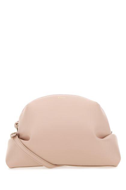 Pastel pink leather Judy crossbody bag