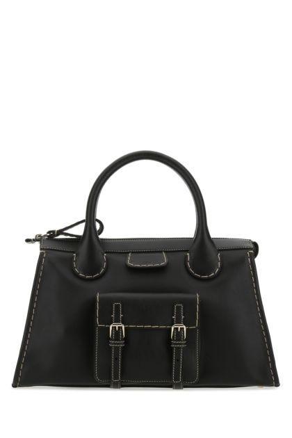 Black leather medium Edith handbag