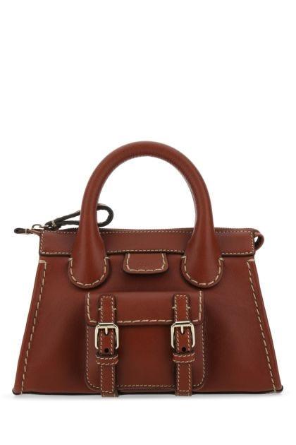 Brick leather mini Edith handbag