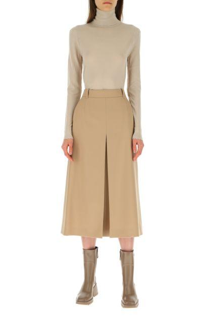 Cappuccino wool skirt