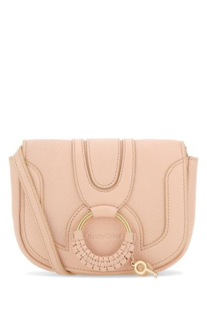 Pastel pink leather mini Hana crossbody bag