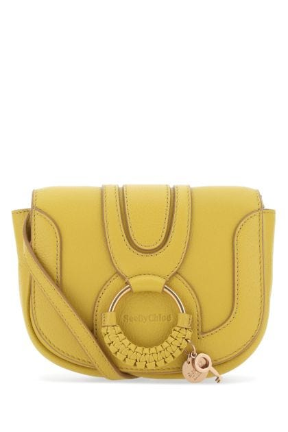 Mustard leather mini Hana crossbody bag