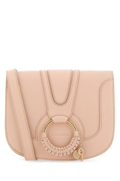Pastel pink leather Hana crossbody bag