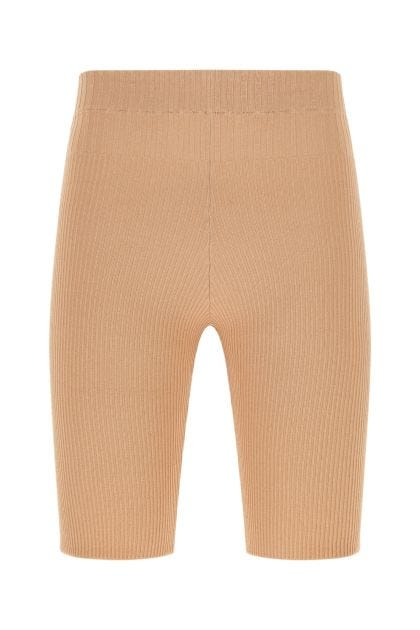 Skin pink stretch viscose blend leggings