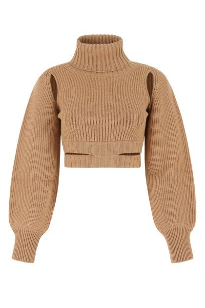 Biscuit stretch wool blend sweater
