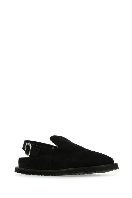 Black suede Berlin slippers