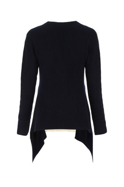 Multicolor wool oversize sweater