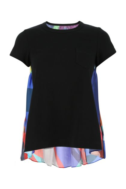 Multicolor cotton and polyester t-shirt