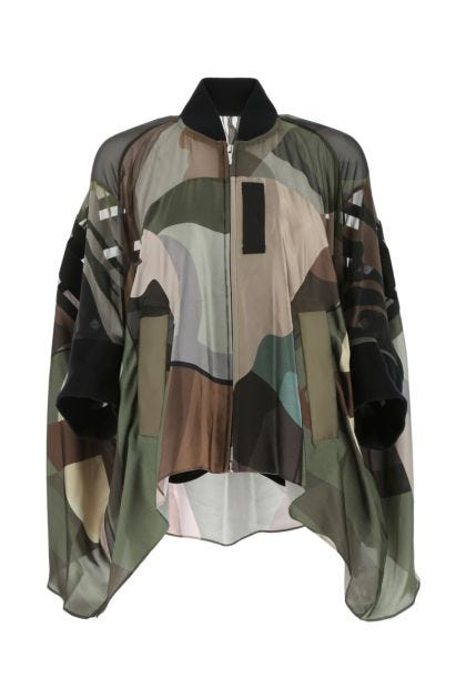 Printed polyester oversize jacket