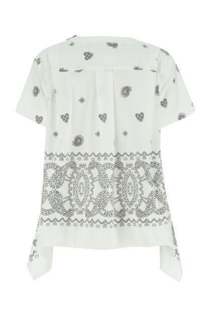 White poplin t-shirt