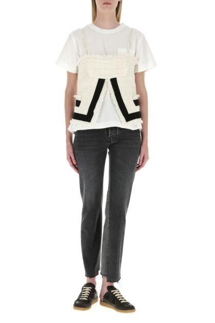 White polyester blend t-shirt