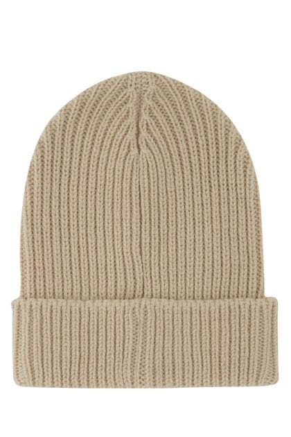 Sand wool beanie hat