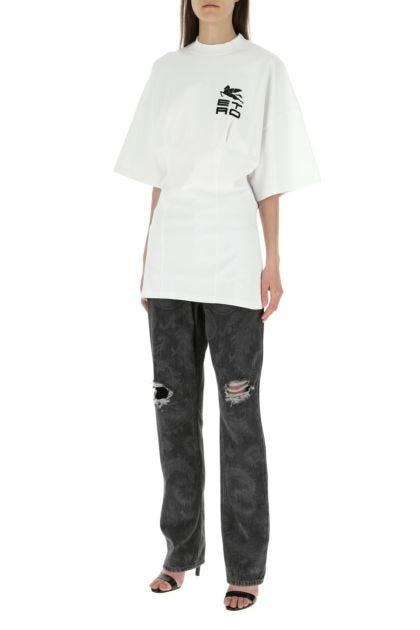 White cotton t-shirt dress