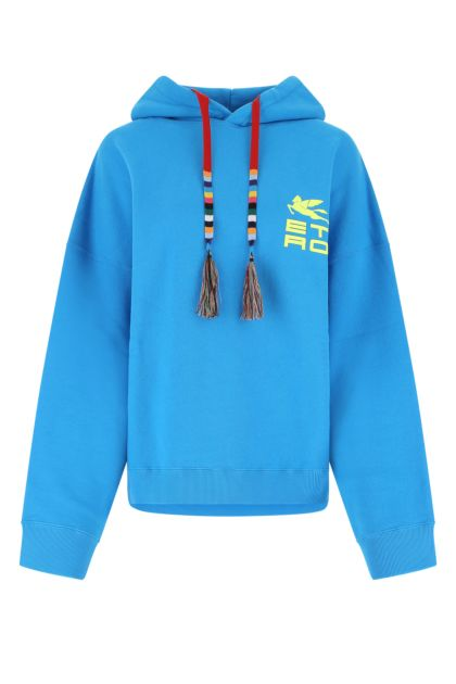 Light blue cotton oversize sweatshirt