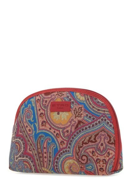 Printed fabric pouch