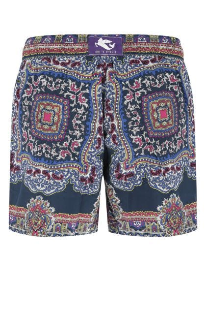 Printed nylon swimming shorts