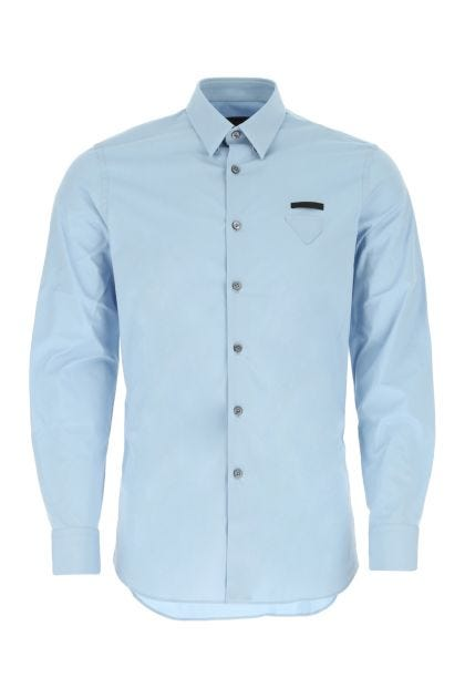 Light blue poplin shirt